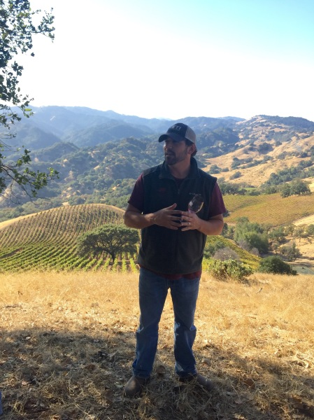 Clay Mauritson atop Rockpile AVA vineyards Sonoma