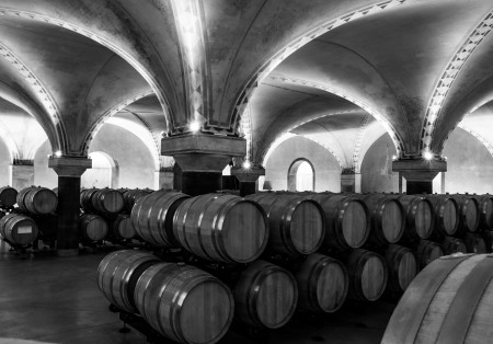 The beautiful 17th century vaulted cellars at Salvaterra