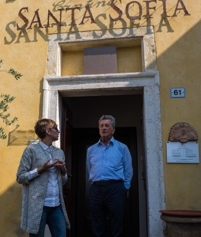 The sprightly 81 year-old Giancarlo Begnoni of Santa Sofia, with Elisa Biasolo