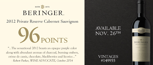 Beringer Private Reserve Cabernet Sauvignon 2012