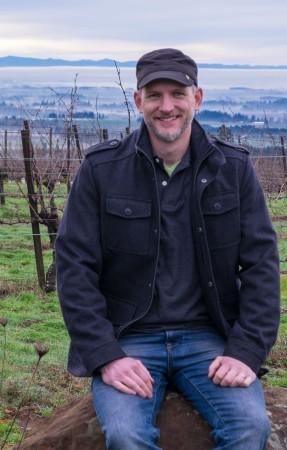 2nd generation rational artist Jason Lett of The Eyrie Vineyards