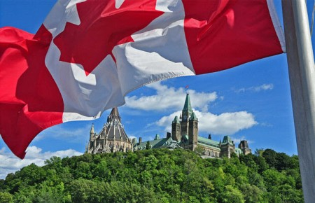 The Canadian flag flying over the Parliament Buildings. ANDREW CHONG, 06.25.2013
