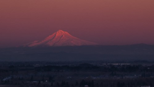 Majestic Mt. Hood at sunset