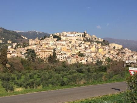 Hill town of Cori in Latina