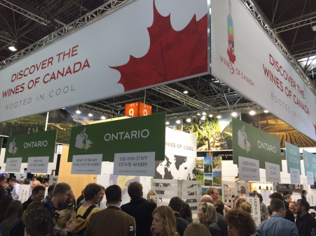 Canada attracted good crowds at the world's largest wine fair.