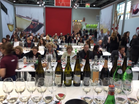 Settling in for Canada's sold out white wine seminar at Prowein.