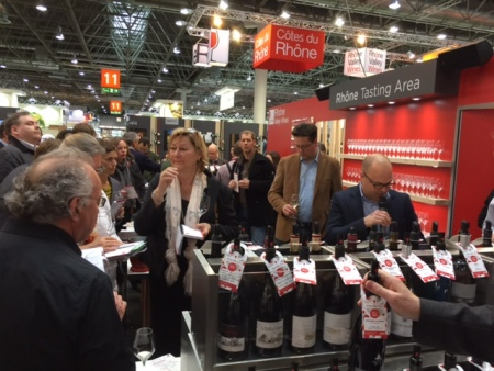 Tasting at the Rhone Pavilion