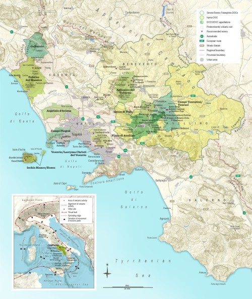 A map of Campania (credit: Jacqui Small Publications)