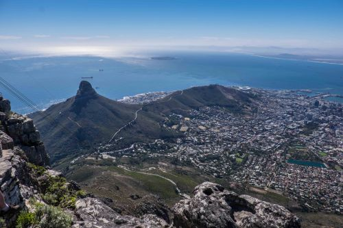 Cape Town from the top of Table Mountain-7648
