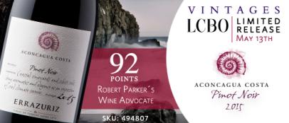 Errazuriz Aconcagua Costa Pinot Noir 2015