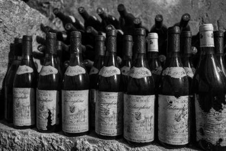 Old falanghina bottles, Mustilli