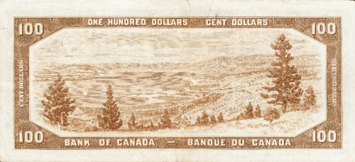 One Hundred Dollars Canadian - Back
