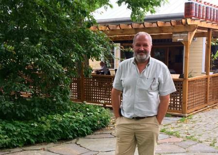 Charles-Henri de Coussergues, au Vignoble de l'Orpailleur, Dunham (@Nadia Fournier)