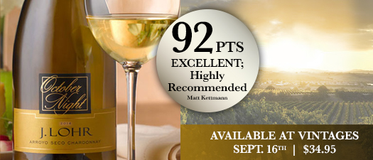 J. Lohr October Night Chardonnay 2015