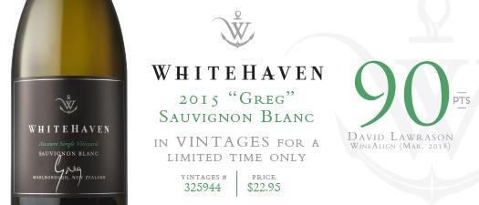 """Whitehaven """"Greg"""" Sauvignon Blanc 2015"""