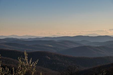 Tuscan hills, sunset