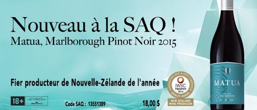 Matua Marlborough Pinot Noir 2015