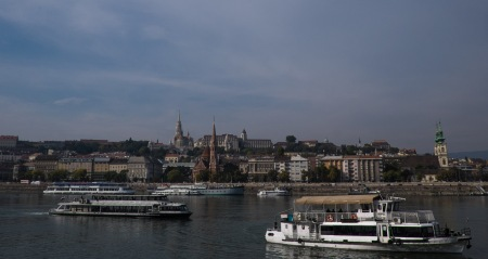 The Danube, Matthias Church, and the Fishermen's Bastion on Castle Hill, Budapest-1381