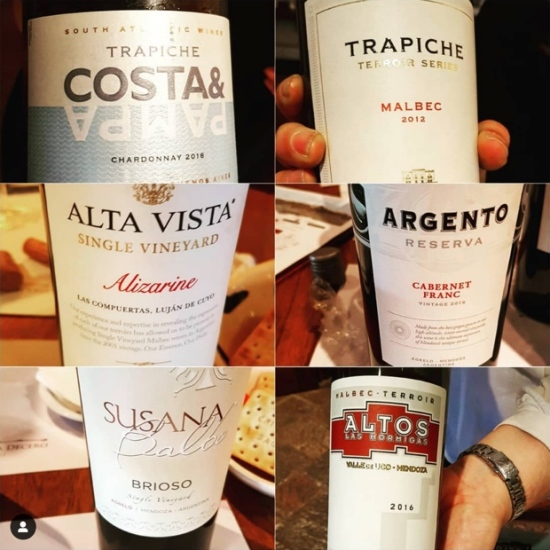 Mendoza shuffle with some fine examples and cross section of terroirs to represent #winesofargentina ~
