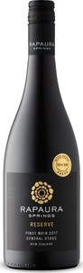 Rapaura Springs Reserve Pinot Noir 2017, Central Otago, South Island