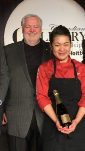 Harry with Calgary Gold Medal chef JinHee Lee at CCC in Kelowna in 2017