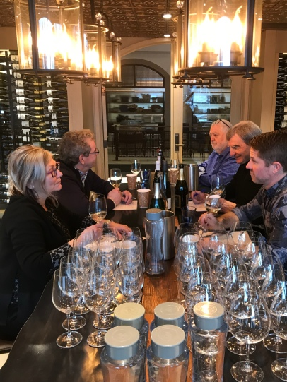 Tasting with Harry at Canadian Culinary Championships 2019, along with Janet Dorozynski, Sid Cross and Rhys Pender MW.