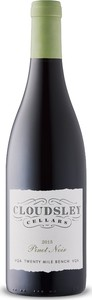 Cloudsley Cellars Twenty Mile Bench Pinot Noir 2015
