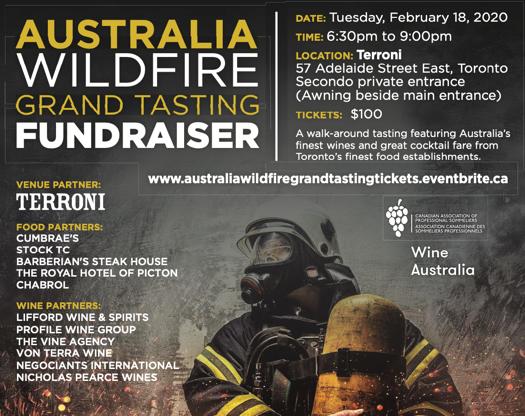 Australia Wildfire Grand Tasting Fundraiser