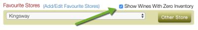 Click on ZERO inventory