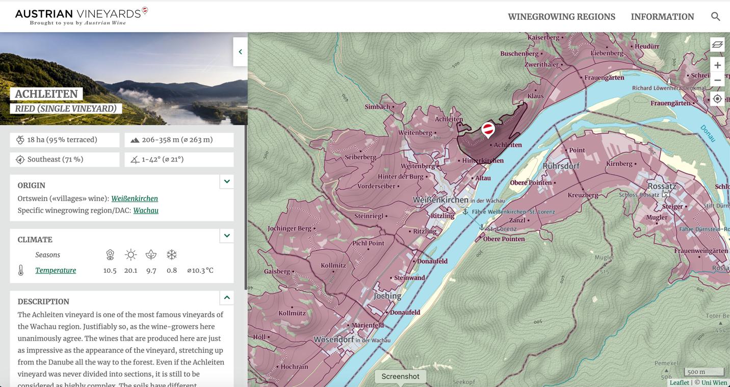 Achleiten Ried (Single Vineyard) Map
