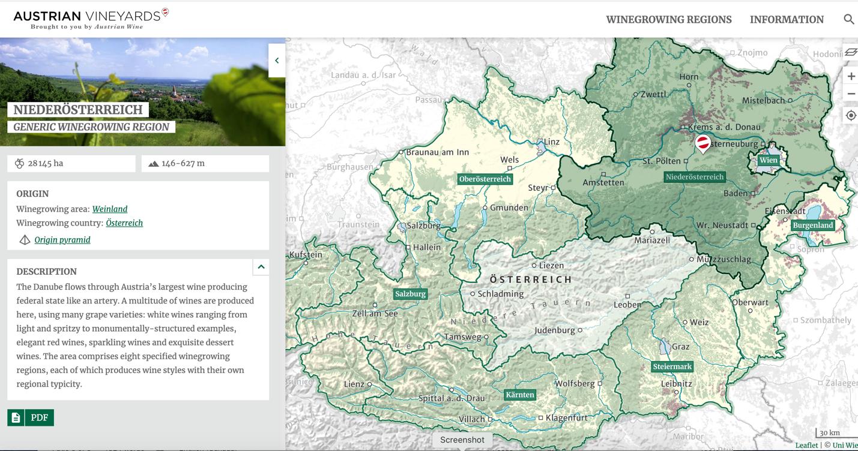 Niederösterreich - Generic Winegrowing Region Map