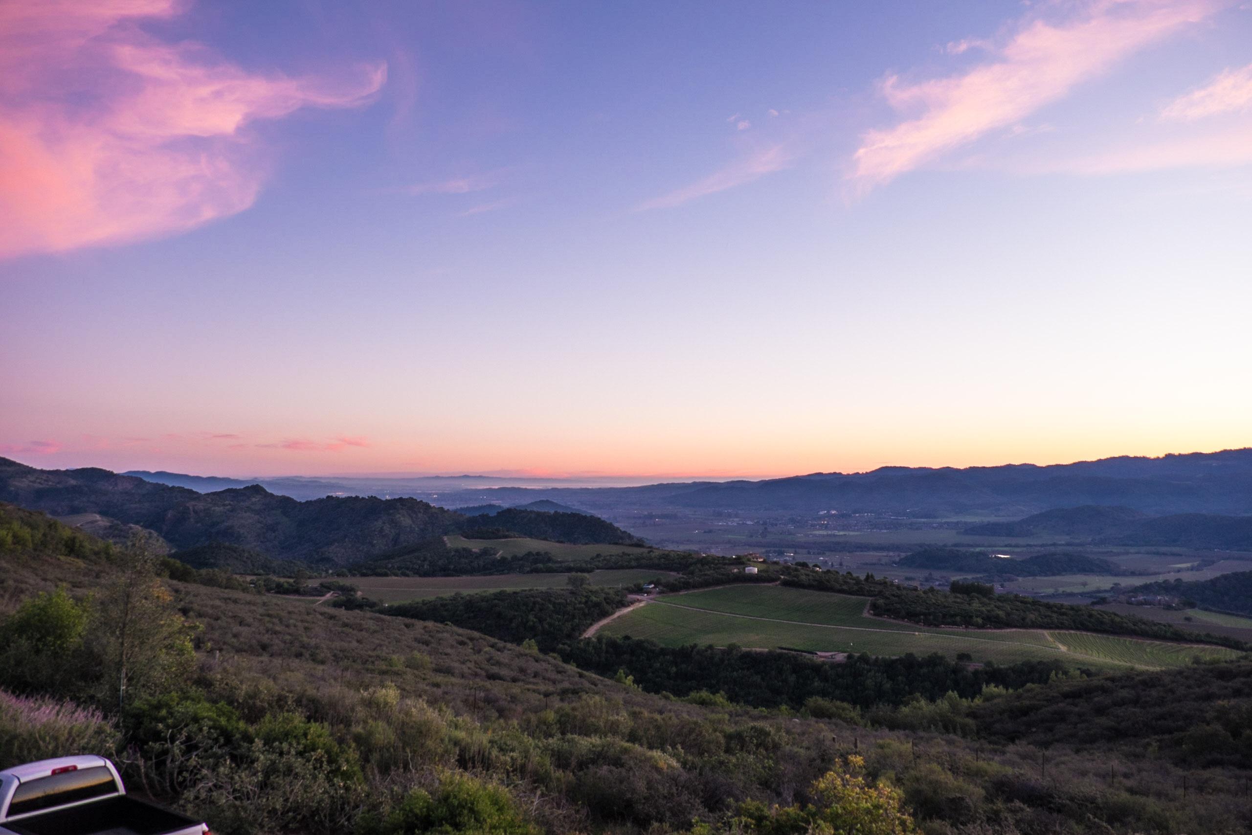 Sunset, Ovid Vineyards